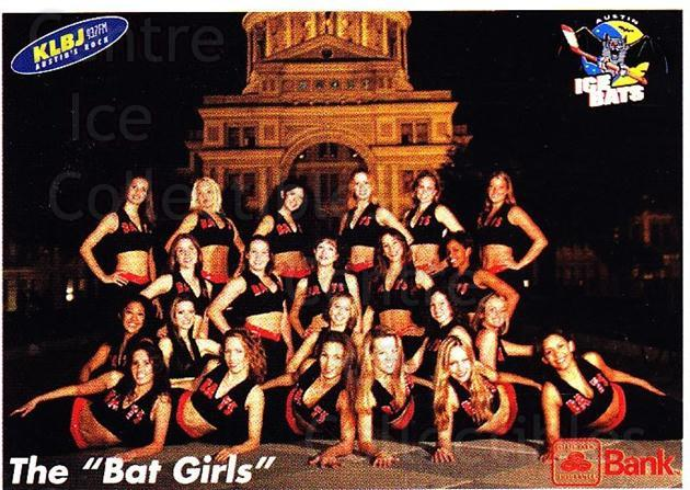 2003-04 Austin Ice Bats #22 Cheerleaders<br/>1 In Stock - $3.00 each - <a href=https://centericecollectibles.foxycart.com/cart?name=2003-04%20Austin%20Ice%20Bats%20%2322%20Cheerleaders...&quantity_max=1&price=$3.00&code=702867 class=foxycart> Buy it now! </a>