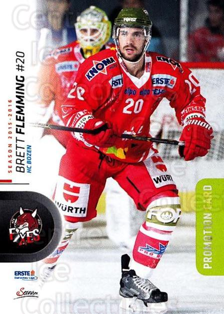2015-16 Erste Bank Eishockey Liga EBEL Promo #3 Brett Flemming<br/>7 In Stock - $3.00 each - <a href=https://centericecollectibles.foxycart.com/cart?name=2015-16%20Erste%20Bank%20Eishockey%20Liga%20EBEL%20Promo%20%233%20Brett%20Flemming...&quantity_max=7&price=$3.00&code=702906 class=foxycart> Buy it now! </a>