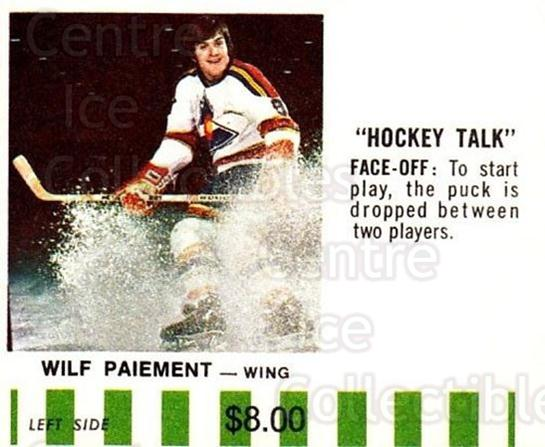 1976-77 Colorado Rockies Puck Bucks Green #14 Wilf Paiement<br/>1 In Stock - $5.00 each - <a href=https://centericecollectibles.foxycart.com/cart?name=1976-77%20Colorado%20Rockies%20Puck%20Bucks%20Green%20%2314%20Wilf%20Paiement...&quantity_max=1&price=$5.00&code=703017 class=foxycart> Buy it now! </a>