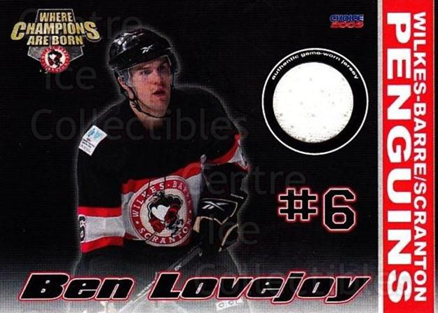 2009-10 Wilkes-Barre Scranton Penguins Jersey #6 Ben Lovejoy<br/>1 In Stock - $5.00 each - <a href=https://centericecollectibles.foxycart.com/cart?name=2009-10%20Wilkes-Barre%20Scranton%20Penguins%20Jersey%20%236%20Ben%20Lovejoy...&quantity_max=1&price=$5.00&code=703084 class=foxycart> Buy it now! </a>