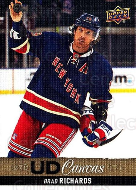 2013-14 Upper Deck Canvas #15 Brad Richards<br/>2 In Stock - $2.00 each - <a href=https://centericecollectibles.foxycart.com/cart?name=2013-14%20Upper%20Deck%20Canvas%20%2315%20Brad%20Richards...&quantity_max=2&price=$2.00&code=704018 class=foxycart> Buy it now! </a>