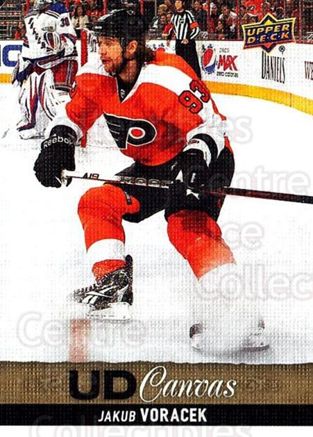 2013-14 Upper Deck Canvas #19 Jakub Voracek<br/>2 In Stock - $2.00 each - <a href=https://centericecollectibles.foxycart.com/cart?name=2013-14%20Upper%20Deck%20Canvas%20%2319%20Jakub%20Voracek...&quantity_max=2&price=$2.00&code=704022 class=foxycart> Buy it now! </a>