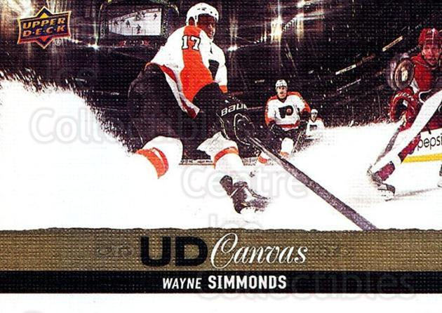 2013-14 Upper Deck Canvas #20 Wayne Simmonds<br/>2 In Stock - $2.00 each - <a href=https://centericecollectibles.foxycart.com/cart?name=2013-14%20Upper%20Deck%20Canvas%20%2320%20Wayne%20Simmonds...&quantity_max=2&price=$2.00&code=704023 class=foxycart> Buy it now! </a>