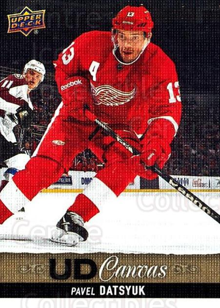 2013-14 Upper Deck Canvas #47 Pavel Datsyuk<br/>1 In Stock - $3.00 each - <a href=https://centericecollectibles.foxycart.com/cart?name=2013-14%20Upper%20Deck%20Canvas%20%2347%20Pavel%20Datsyuk...&quantity_max=1&price=$3.00&code=704050 class=foxycart> Buy it now! </a>