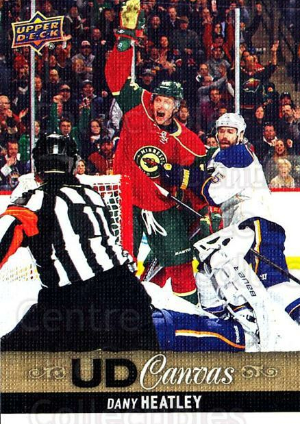2013-14 Upper Deck Canvas #58 Dany Heatley<br/>2 In Stock - $2.00 each - <a href=https://centericecollectibles.foxycart.com/cart?name=2013-14%20Upper%20Deck%20Canvas%20%2358%20Dany%20Heatley...&quantity_max=2&price=$2.00&code=704061 class=foxycart> Buy it now! </a>