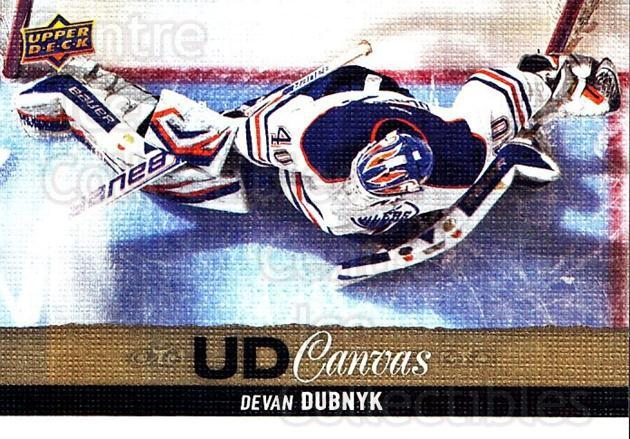 2013-14 Upper Deck Canvas #72 Devan Dubnyk<br/>1 In Stock - $2.00 each - <a href=https://centericecollectibles.foxycart.com/cart?name=2013-14%20Upper%20Deck%20Canvas%20%2372%20Devan%20Dubnyk...&quantity_max=1&price=$2.00&code=704075 class=foxycart> Buy it now! </a>