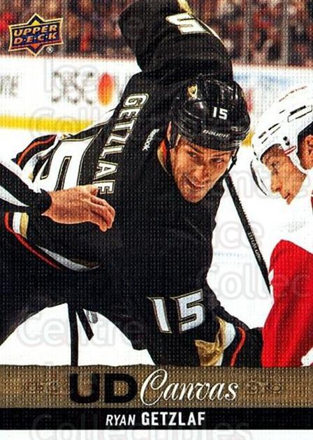 2013-14 Upper Deck Canvas #76 Ryan Getzlaf<br/>2 In Stock - $2.00 each - <a href=https://centericecollectibles.foxycart.com/cart?name=2013-14%20Upper%20Deck%20Canvas%20%2376%20Ryan%20Getzlaf...&quantity_max=2&price=$2.00&code=704079 class=foxycart> Buy it now! </a>