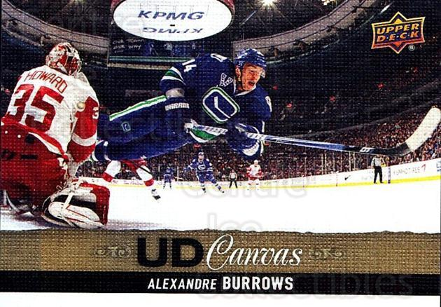 2013-14 Upper Deck Canvas #88 Alexandre Burrows<br/>2 In Stock - $2.00 each - <a href=https://centericecollectibles.foxycart.com/cart?name=2013-14%20Upper%20Deck%20Canvas%20%2388%20Alexandre%20Burro...&quantity_max=2&price=$2.00&code=704091 class=foxycart> Buy it now! </a>