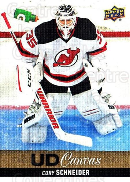 2013-14 Upper Deck Canvas #134 Cory Schneider<br/>1 In Stock - $2.00 each - <a href=https://centericecollectibles.foxycart.com/cart?name=2013-14%20Upper%20Deck%20Canvas%20%23134%20Cory%20Schneider...&quantity_max=1&price=$2.00&code=704137 class=foxycart> Buy it now! </a>