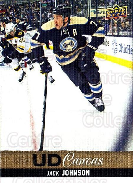 2013-14 Upper Deck Canvas #165 Jack Johnson<br/>2 In Stock - $2.00 each - <a href=https://centericecollectibles.foxycart.com/cart?name=2013-14%20Upper%20Deck%20Canvas%20%23165%20Jack%20Johnson...&quantity_max=2&price=$2.00&code=704168 class=foxycart> Buy it now! </a>