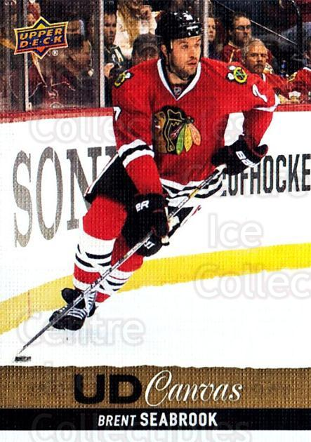 2013-14 Upper Deck Canvas #172 Brent Seabrook<br/>1 In Stock - $2.00 each - <a href=https://centericecollectibles.foxycart.com/cart?name=2013-14%20Upper%20Deck%20Canvas%20%23172%20Brent%20Seabrook...&quantity_max=1&price=$2.00&code=704175 class=foxycart> Buy it now! </a>