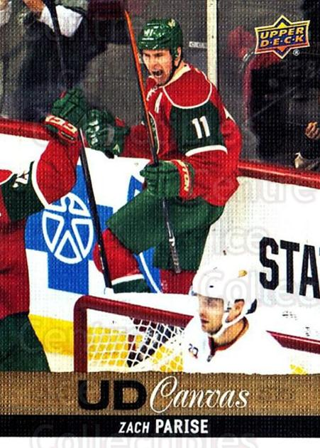 2013-14 Upper Deck Canvas #178 Zach Parise<br/>2 In Stock - $2.00 each - <a href=https://centericecollectibles.foxycart.com/cart?name=2013-14%20Upper%20Deck%20Canvas%20%23178%20Zach%20Parise...&quantity_max=2&price=$2.00&code=704181 class=foxycart> Buy it now! </a>