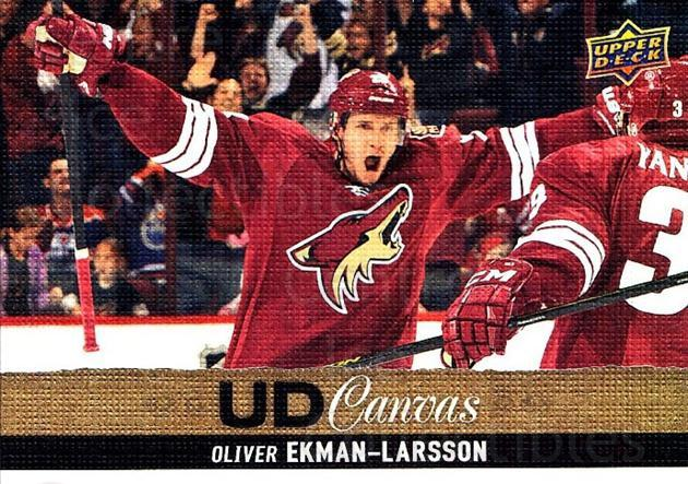 2013-14 Upper Deck Canvas #191 Oliver Ekman-Larsson<br/>1 In Stock - $3.00 each - <a href=https://centericecollectibles.foxycart.com/cart?name=2013-14%20Upper%20Deck%20Canvas%20%23191%20Oliver%20Ekman-La...&quantity_max=1&price=$3.00&code=704194 class=foxycart> Buy it now! </a>