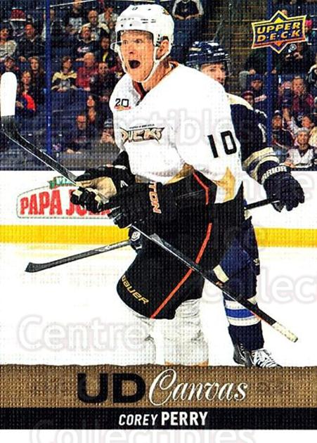 2013-14 Upper Deck Canvas #199 Corey Perry<br/>1 In Stock - $2.00 each - <a href=https://centericecollectibles.foxycart.com/cart?name=2013-14%20Upper%20Deck%20Canvas%20%23199%20Corey%20Perry...&quantity_max=1&price=$2.00&code=704202 class=foxycart> Buy it now! </a>