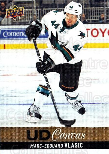 2013-14 Upper Deck Canvas #204 Marc-Edouard Vlasic<br/>1 In Stock - $2.00 each - <a href=https://centericecollectibles.foxycart.com/cart?name=2013-14%20Upper%20Deck%20Canvas%20%23204%20Marc-Edouard%20Vl...&quantity_max=1&price=$2.00&code=704207 class=foxycart> Buy it now! </a>