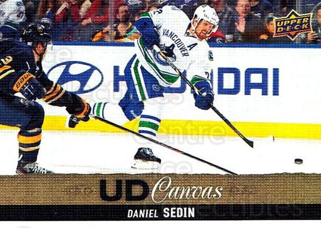 2013-14 Upper Deck Canvas #207 Daniel Sedin<br/>2 In Stock - $2.00 each - <a href=https://centericecollectibles.foxycart.com/cart?name=2013-14%20Upper%20Deck%20Canvas%20%23207%20Daniel%20Sedin...&quantity_max=2&price=$2.00&code=704210 class=foxycart> Buy it now! </a>
