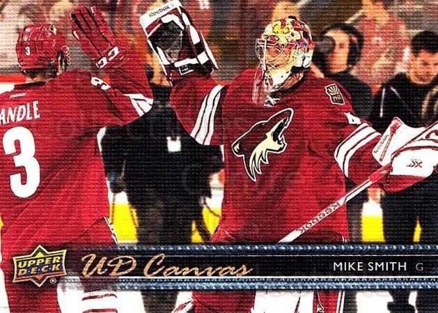 2014-15 Upper Deck Canvas #4 Mike Smith<br/>2 In Stock - $2.00 each - <a href=https://centericecollectibles.foxycart.com/cart?name=2014-15%20Upper%20Deck%20Canvas%20%234%20Mike%20Smith...&quantity_max=2&price=$2.00&code=704277 class=foxycart> Buy it now! </a>