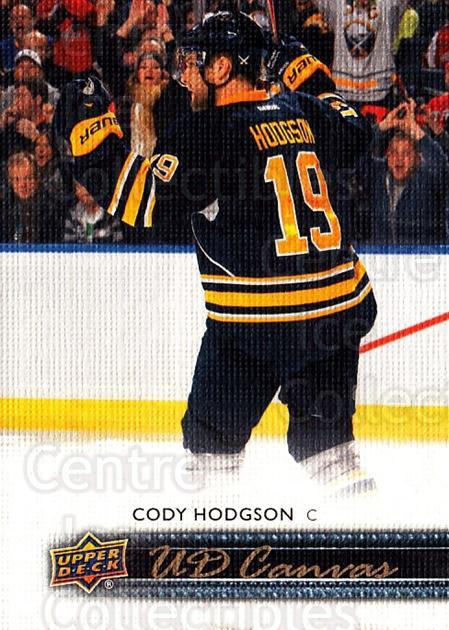 2014-15 Upper Deck Canvas #12 Cody Hodgson<br/>2 In Stock - $2.00 each - <a href=https://centericecollectibles.foxycart.com/cart?name=2014-15%20Upper%20Deck%20Canvas%20%2312%20Cody%20Hodgson...&quantity_max=2&price=$2.00&code=704285 class=foxycart> Buy it now! </a>
