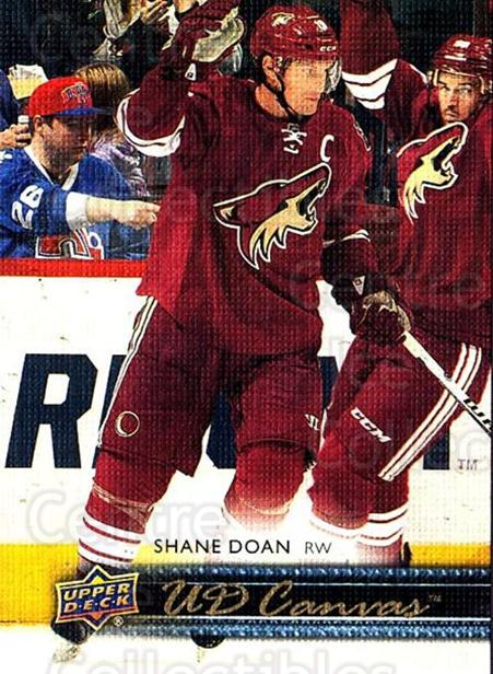 2014-15 Upper Deck Canvas #124 Shane Doan<br/>1 In Stock - $2.00 each - <a href=https://centericecollectibles.foxycart.com/cart?name=2014-15%20Upper%20Deck%20Canvas%20%23124%20Shane%20Doan...&quantity_max=1&price=$2.00&code=704397 class=foxycart> Buy it now! </a>