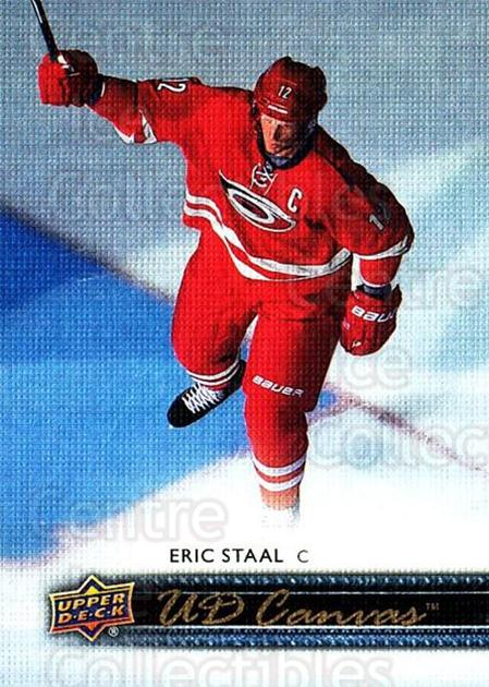 2014-15 Upper Deck Canvas #135 Eric Staal<br/>2 In Stock - $2.00 each - <a href=https://centericecollectibles.foxycart.com/cart?name=2014-15%20Upper%20Deck%20Canvas%20%23135%20Eric%20Staal...&quantity_max=2&price=$2.00&code=704408 class=foxycart> Buy it now! </a>