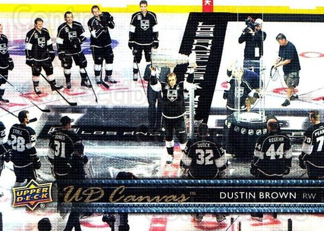 2014-15 Upper Deck Canvas #159 Dustin Brown<br/>1 In Stock - $2.00 each - <a href=https://centericecollectibles.foxycart.com/cart?name=2014-15%20Upper%20Deck%20Canvas%20%23159%20Dustin%20Brown...&quantity_max=1&price=$2.00&code=704432 class=foxycart> Buy it now! </a>