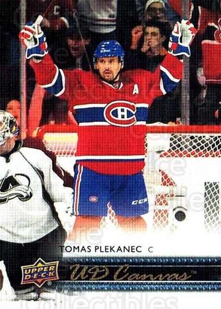 2014-15 Upper Deck Canvas #166 Tomas Plekanec<br/>1 In Stock - $2.00 each - <a href=https://centericecollectibles.foxycart.com/cart?name=2014-15%20Upper%20Deck%20Canvas%20%23166%20Tomas%20Plekanec...&quantity_max=1&price=$2.00&code=704439 class=foxycart> Buy it now! </a>