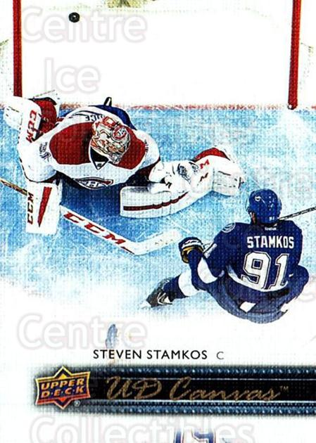2014-15 Upper Deck Canvas #195 Steven Stamkos<br/>1 In Stock - $3.00 each - <a href=https://centericecollectibles.foxycart.com/cart?name=2014-15%20Upper%20Deck%20Canvas%20%23195%20Steven%20Stamkos...&price=$3.00&code=704468 class=foxycart> Buy it now! </a>