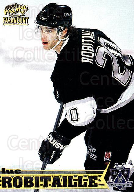 1998-99 Paramount #107 Luc Robitaille<br/>5 In Stock - $1.00 each - <a href=https://centericecollectibles.foxycart.com/cart?name=1998-99%20Paramount%20%23107%20Luc%20Robitaille...&quantity_max=5&price=$1.00&code=70450 class=foxycart> Buy it now! </a>