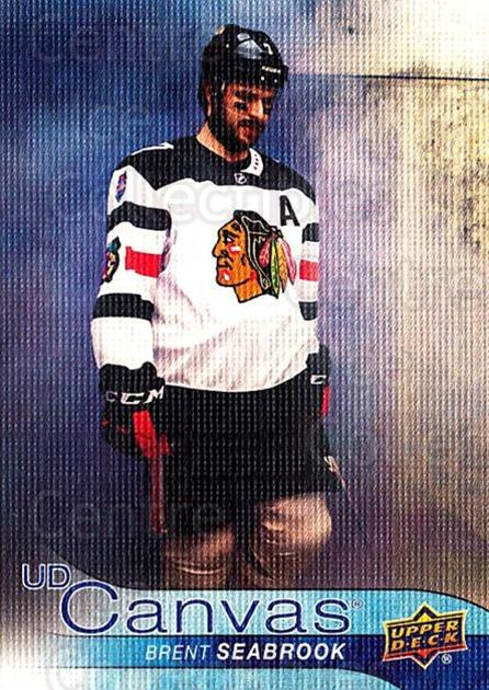 2016-17 Upper Deck Canvas #20 Brent Seabrook<br/>2 In Stock - $2.00 each - <a href=https://centericecollectibles.foxycart.com/cart?name=2016-17%20Upper%20Deck%20Canvas%20%2320%20Brent%20Seabrook...&quantity_max=2&price=$2.00&code=704563 class=foxycart> Buy it now! </a>