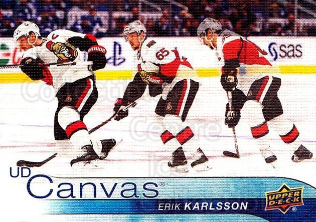 2016-17 Upper Deck Canvas #58 Erik Karlsson<br/>1 In Stock - $3.00 each - <a href=https://centericecollectibles.foxycart.com/cart?name=2016-17%20Upper%20Deck%20Canvas%20%2358%20Erik%20Karlsson...&quantity_max=1&price=$3.00&code=704601 class=foxycart> Buy it now! </a>