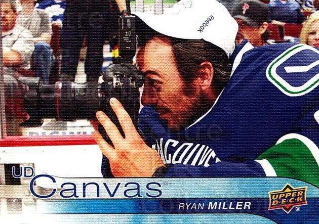 2016-17 Upper Deck Canvas #81 Ryan Miller<br/>2 In Stock - $2.00 each - <a href=https://centericecollectibles.foxycart.com/cart?name=2016-17%20Upper%20Deck%20Canvas%20%2381%20Ryan%20Miller...&quantity_max=2&price=$2.00&code=704624 class=foxycart> Buy it now! </a>