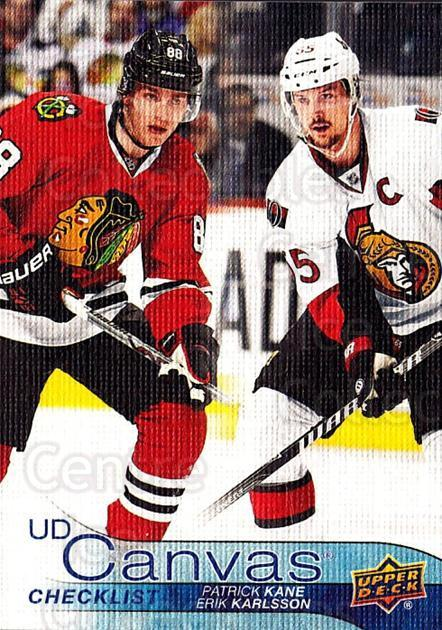 2016-17 Upper Deck Canvas #90 Patrick Kane, Erik Karlsson<br/>1 In Stock - $5.00 each - <a href=https://centericecollectibles.foxycart.com/cart?name=2016-17%20Upper%20Deck%20Canvas%20%2390%20Patrick%20Kane,%20E...&quantity_max=1&price=$5.00&code=704633 class=foxycart> Buy it now! </a>