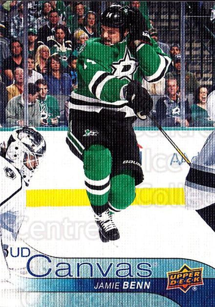 2016-17 Upper Deck Canvas #144 Jamie Benn<br/>1 In Stock - $2.00 each - <a href=https://centericecollectibles.foxycart.com/cart?name=2016-17%20Upper%20Deck%20Canvas%20%23144%20Jamie%20Benn...&quantity_max=1&price=$2.00&code=704687 class=foxycart> Buy it now! </a>