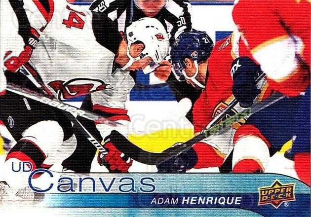 2016-17 Upper Deck Canvas #168 Adam Henrique<br/>2 In Stock - $2.00 each - <a href=https://centericecollectibles.foxycart.com/cart?name=2016-17%20Upper%20Deck%20Canvas%20%23168%20Adam%20Henrique...&quantity_max=2&price=$2.00&code=704711 class=foxycart> Buy it now! </a>