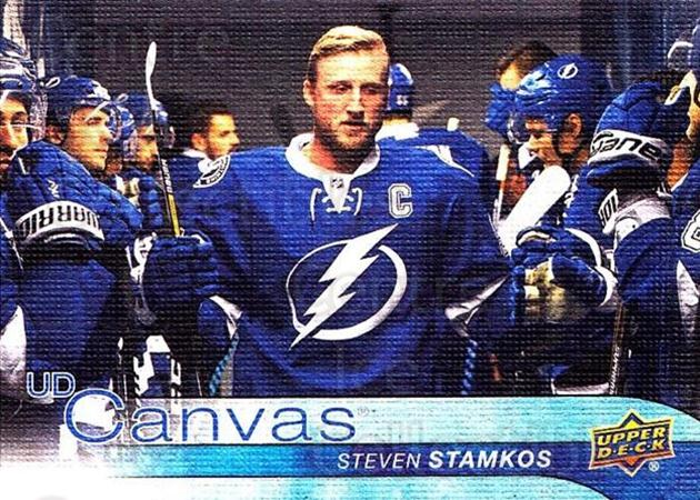 2016-17 Upper Deck Canvas #195 Steven Stamkos<br/>2 In Stock - $3.00 each - <a href=https://centericecollectibles.foxycart.com/cart?name=2016-17%20Upper%20Deck%20Canvas%20%23195%20Steven%20Stamkos...&price=$3.00&code=704738 class=foxycart> Buy it now! </a>