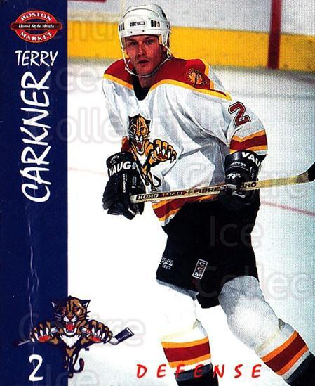 1995-96 Florida Panthers Boston Market #3 Terry Carkner<br/>1 In Stock - $3.00 each - <a href=https://centericecollectibles.foxycart.com/cart?name=1995-96%20Florida%20Panthers%20Boston%20Market%20%233%20Terry%20Carkner...&quantity_max=1&price=$3.00&code=704817 class=foxycart> Buy it now! </a>