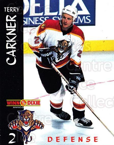 1996-97 Florida Panthers Winn Dixie #1 Terry Carkner<br/>1 In Stock - $3.00 each - <a href=https://centericecollectibles.foxycart.com/cart?name=1996-97%20Florida%20Panthers%20Winn%20Dixie%20%231%20Terry%20Carkner...&quantity_max=1&price=$3.00&code=704845 class=foxycart> Buy it now! </a>