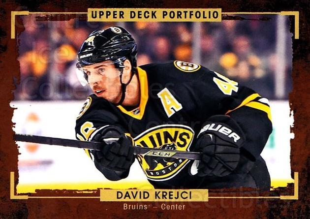 2015-16 Upper Deck Portfolio #4 David Krejci<br/>5 In Stock - $1.00 each - <a href=https://centericecollectibles.foxycart.com/cart?name=2015-16%20Upper%20Deck%20Portfolio%20%234%20David%20Krejci...&quantity_max=5&price=$1.00&code=704878 class=foxycart> Buy it now! </a>