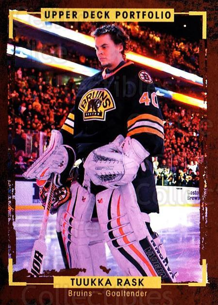 2015-16 Upper Deck Portfolio #6 Tuukka Rask<br/>4 In Stock - $2.00 each - <a href=https://centericecollectibles.foxycart.com/cart?name=2015-16%20Upper%20Deck%20Portfolio%20%236%20Tuukka%20Rask...&quantity_max=4&price=$2.00&code=704880 class=foxycart> Buy it now! </a>