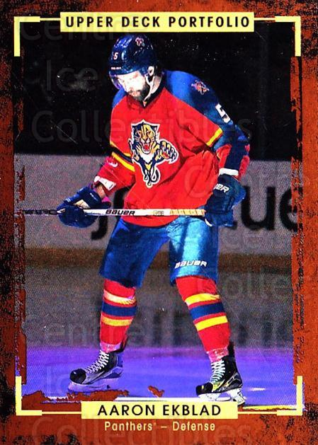 2015-16 Upper Deck Portfolio #15 Aaron Ekblad<br/>5 In Stock - $1.00 each - <a href=https://centericecollectibles.foxycart.com/cart?name=2015-16%20Upper%20Deck%20Portfolio%20%2315%20Aaron%20Ekblad...&quantity_max=5&price=$1.00&code=704889 class=foxycart> Buy it now! </a>