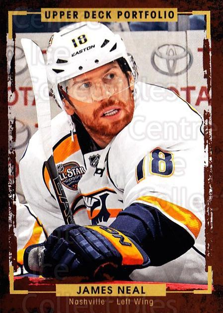 2015-16 Upper Deck Portfolio #27 James Neal<br/>5 In Stock - $1.00 each - <a href=https://centericecollectibles.foxycart.com/cart?name=2015-16%20Upper%20Deck%20Portfolio%20%2327%20James%20Neal...&quantity_max=5&price=$1.00&code=704901 class=foxycart> Buy it now! </a>