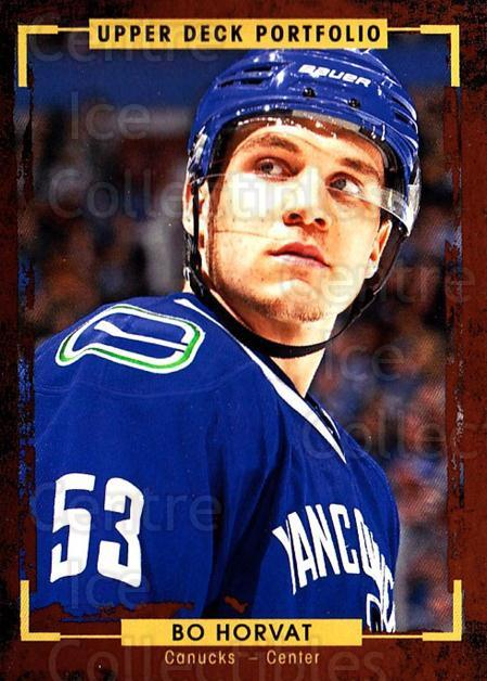 2015-16 Upper Deck Portfolio #29 Bo Horvat<br/>3 In Stock - $1.00 each - <a href=https://centericecollectibles.foxycart.com/cart?name=2015-16%20Upper%20Deck%20Portfolio%20%2329%20Bo%20Horvat...&quantity_max=3&price=$1.00&code=704903 class=foxycart> Buy it now! </a>