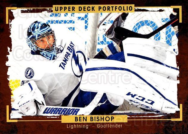 2015-16 Upper Deck Portfolio #36 Ben Bishop<br/>5 In Stock - $1.00 each - <a href=https://centericecollectibles.foxycart.com/cart?name=2015-16%20Upper%20Deck%20Portfolio%20%2336%20Ben%20Bishop...&quantity_max=5&price=$1.00&code=704910 class=foxycart> Buy it now! </a>
