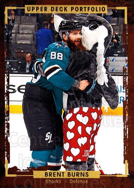 2015-16 Upper Deck Portfolio #43 Brent Burns<br/>5 In Stock - $1.00 each - <a href=https://centericecollectibles.foxycart.com/cart?name=2015-16%20Upper%20Deck%20Portfolio%20%2343%20Brent%20Burns...&quantity_max=5&price=$1.00&code=704917 class=foxycart> Buy it now! </a>
