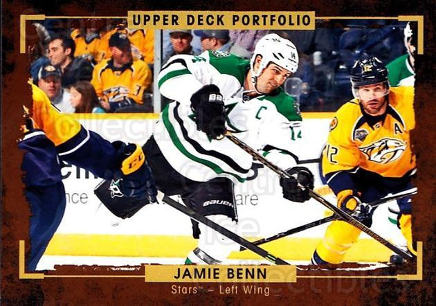 2015-16 Upper Deck Portfolio #46 Jamie Benn<br/>5 In Stock - $1.00 each - <a href=https://centericecollectibles.foxycart.com/cart?name=2015-16%20Upper%20Deck%20Portfolio%20%2346%20Jamie%20Benn...&quantity_max=5&price=$1.00&code=704920 class=foxycart> Buy it now! </a>