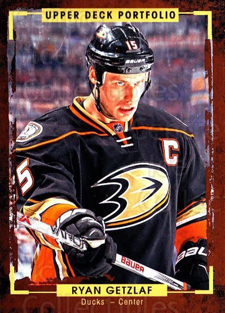 2015-16 Upper Deck Portfolio #51 Ryan Getzlaf<br/>5 In Stock - $1.00 each - <a href=https://centericecollectibles.foxycart.com/cart?name=2015-16%20Upper%20Deck%20Portfolio%20%2351%20Ryan%20Getzlaf...&quantity_max=5&price=$1.00&code=704925 class=foxycart> Buy it now! </a>