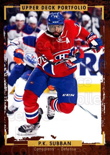2015-16 Upper Deck Portfolio #53 PK Subban<br/>5 In Stock - $1.00 each - <a href=https://centericecollectibles.foxycart.com/cart?name=2015-16%20Upper%20Deck%20Portfolio%20%2353%20PK%20Subban...&quantity_max=5&price=$1.00&code=704927 class=foxycart> Buy it now! </a>