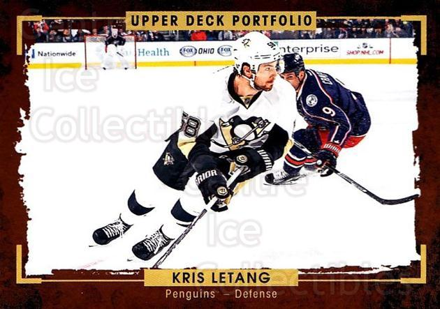 2015-16 Upper Deck Portfolio #56 Kristopher Letang<br/>5 In Stock - $1.00 each - <a href=https://centericecollectibles.foxycart.com/cart?name=2015-16%20Upper%20Deck%20Portfolio%20%2356%20Kristopher%20Leta...&quantity_max=5&price=$1.00&code=704930 class=foxycart> Buy it now! </a>