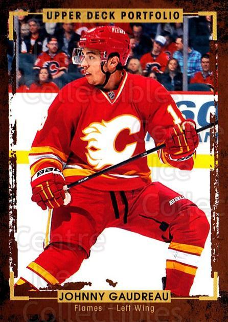 2015-16 Upper Deck Portfolio #61 Johnny Gaudreau<br/>2 In Stock - $1.00 each - <a href=https://centericecollectibles.foxycart.com/cart?name=2015-16%20Upper%20Deck%20Portfolio%20%2361%20Johnny%20Gaudreau...&quantity_max=2&price=$1.00&code=704935 class=foxycart> Buy it now! </a>