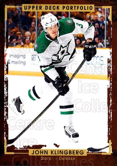 2015-16 Upper Deck Portfolio #64 John Klingberg<br/>4 In Stock - $1.00 each - <a href=https://centericecollectibles.foxycart.com/cart?name=2015-16%20Upper%20Deck%20Portfolio%20%2364%20John%20Klingberg...&quantity_max=4&price=$1.00&code=704938 class=foxycart> Buy it now! </a>